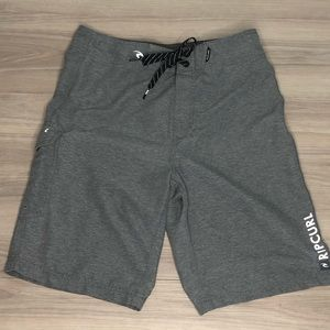 Rip Curl board shorts, gray,